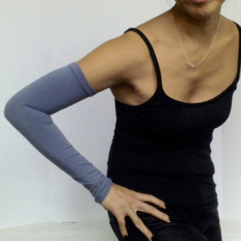 Storm grey KISO sleeves with yoga wear
