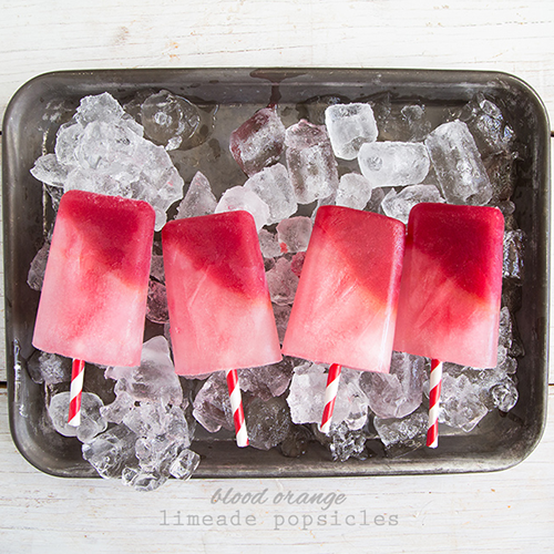 10 Easy & Refreshing Popsicle Recipes - Blood Orange Limeade