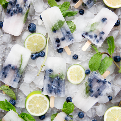 10 Easy & Refreshing Popsicle Recipes - Blueberry Mojito