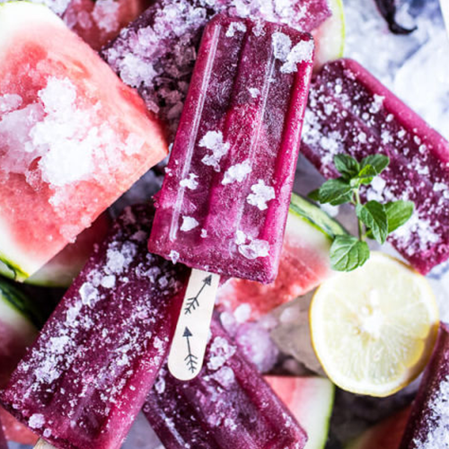 10 Easy & Refreshing Popsicle Recipes - Hibiscus Watermelon