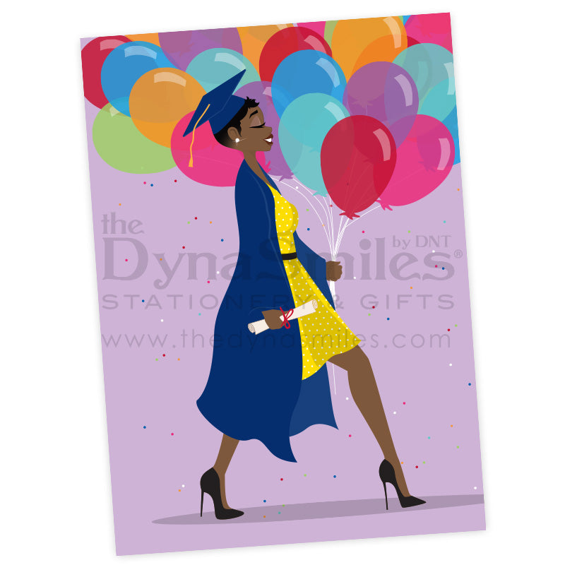 African American Graduation Greeting Card
