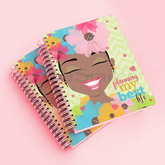 "FOR RESERVE ONLY! Ships JANUARY 2019 - ""Ms Flower Forward"" 2019 Planner - TheDynaSmiles.com - African American Stationery"