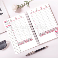 "Internal Page - ""Ms Flower Forward"" 2019 Planner - TheDynaSmiles.com - African American Stationery"