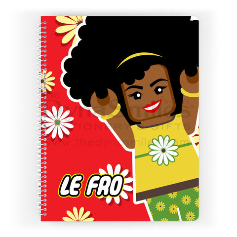 """Le Fro"" Spiral Notebook - TheDynaSmiles.com - African American Stationery"