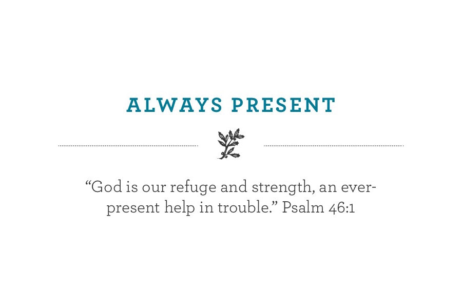 """God is our refuge and strength, an ever-present help in trouble."" Psalm 46:1"