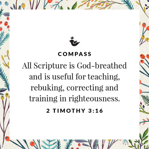 All Scripture is God-breathed and is useful for teaching, rebuking, correcting and training in righteousness. 2 Timothy 3:16