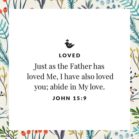 Just as the Father has  loved Me, I have also loved you; abide in My love. John 15:9