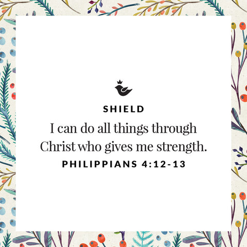 I can do all things through Christ who gives me strength.  Philippians 4:12-13