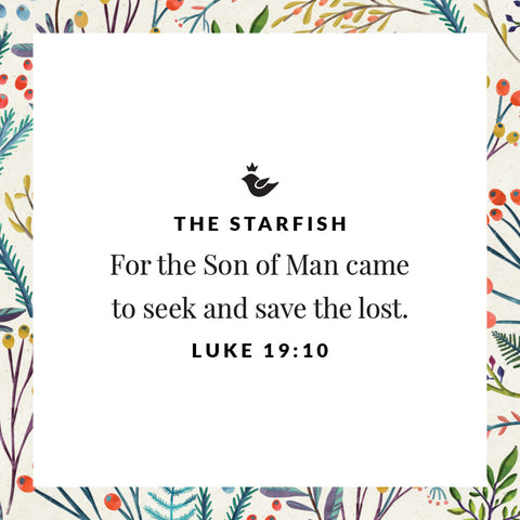 For the Son of Man came to seek and save the lost. Luke 19:10