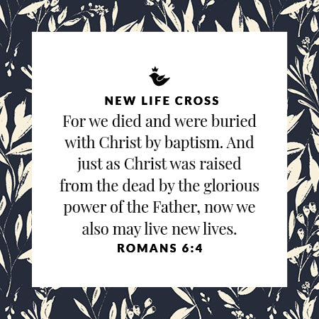 For we died and were buried with Christ by baptism. And just as Christ was raised from the dead by the glorious power of the Father, now we may also live new lives. Romans 6:4