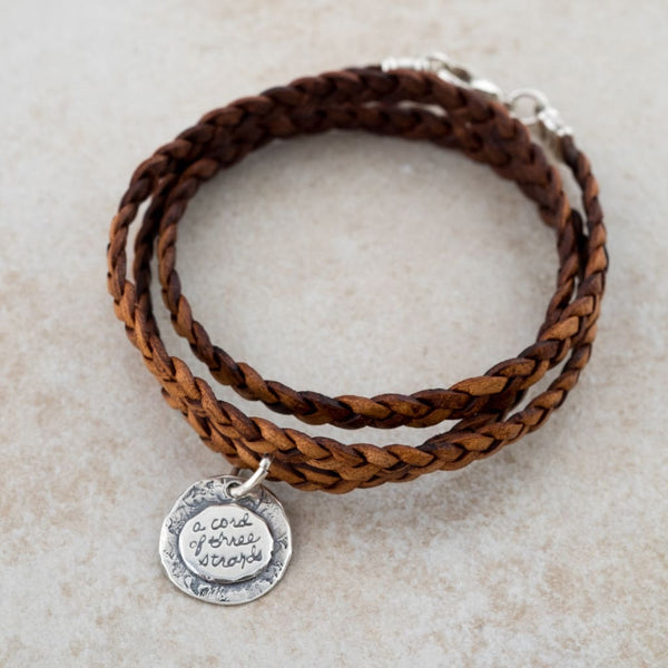 Holly Lane Christian Jewelry - Cord of Three Strands Bracelet