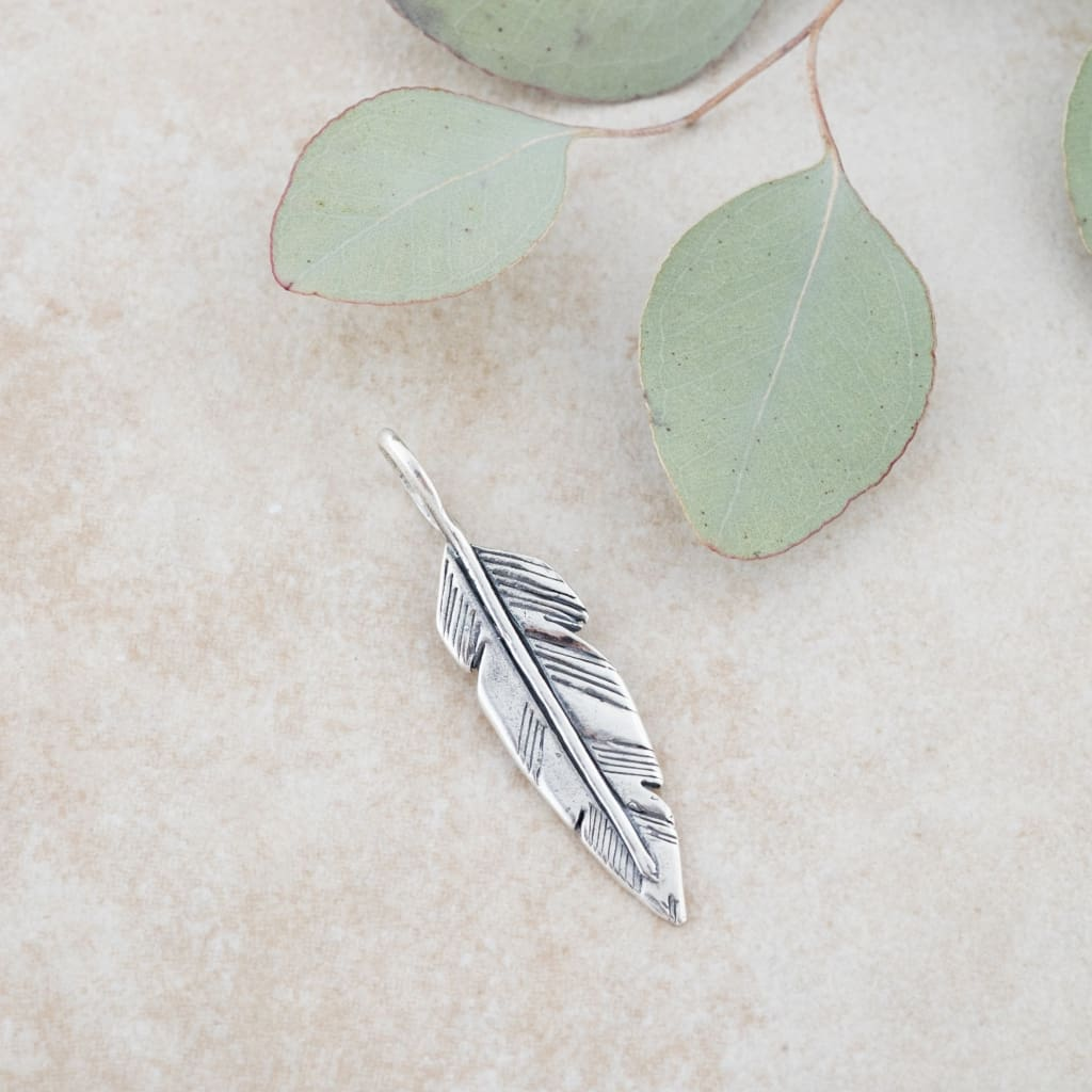 Holly Lane Christian Jewelry - Feather Pendant