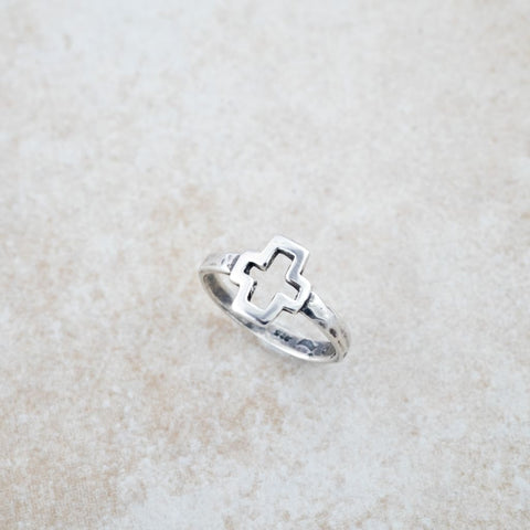 Holly Lane Christian Jewelry - Open Cross Ring