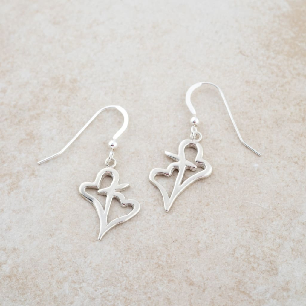 Holly Lane Christian Jewelry - Hearts Connected Earrings