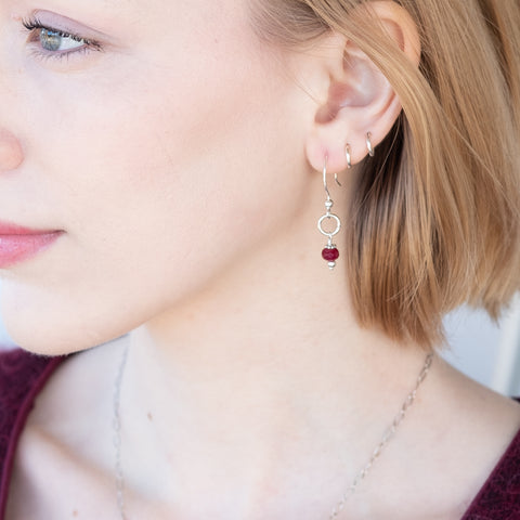 Holly Lane Christian Jewelry - Rubies Earrings