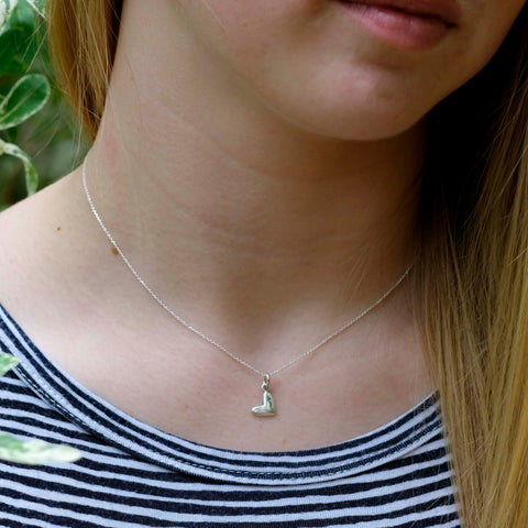 Little Heart for God Necklace