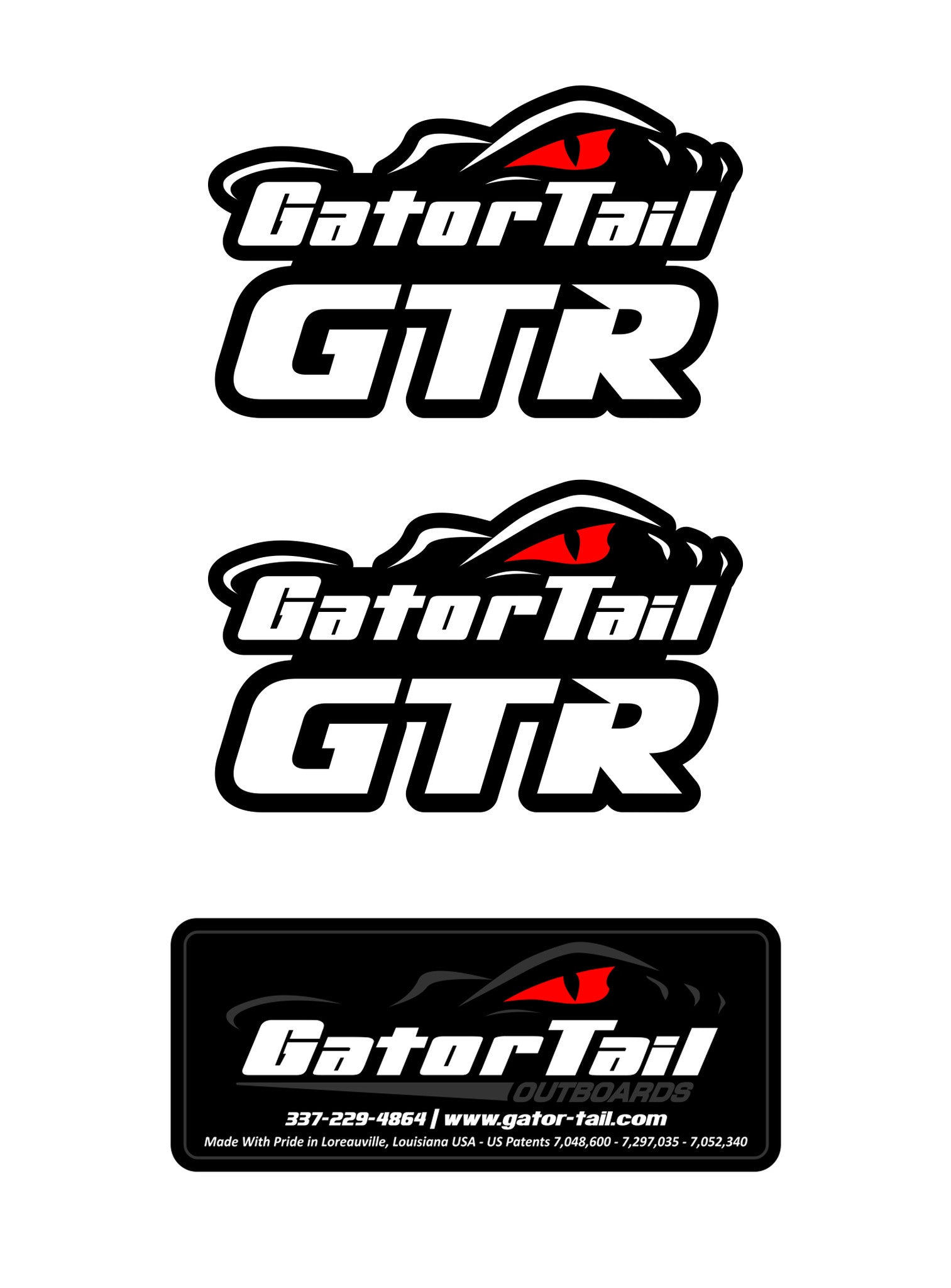 2 GTR Decals (1 Patent Decal included)