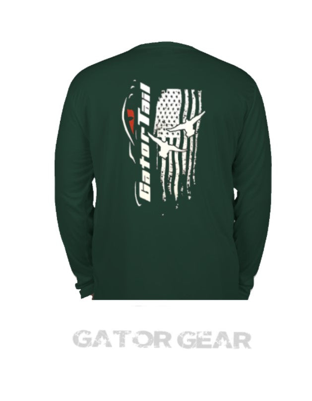 Gator-Tail Dri Fit Long Sleeve Green