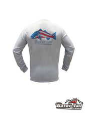 Drifit Patriotic Redfish Fishing Shirt
