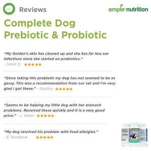Complete Dog Prebiotic & Probiotic, 60 Tablets