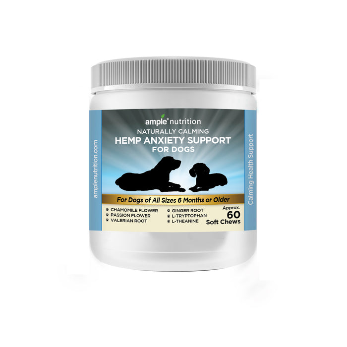 Naturally Calming Hemp Anxiety Support for Dogs, 60 chews