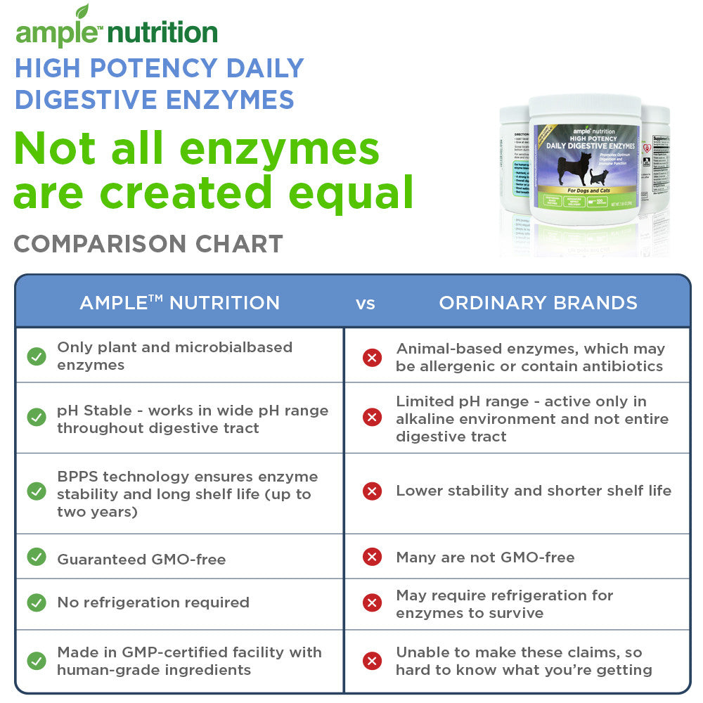 Best Nutritional Digestive Enzyme Supplement For Dogs Cats Ample