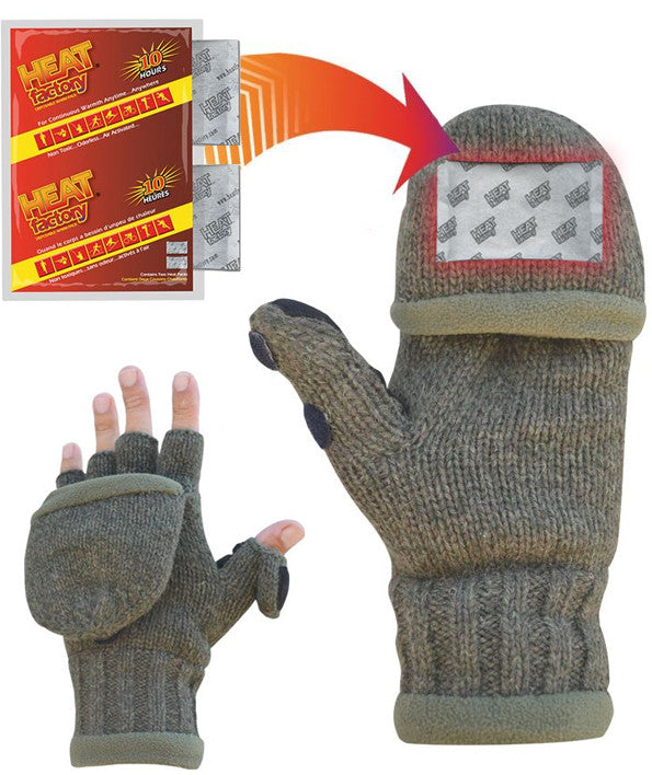 Heated Ragg Wool Glove (Olive)