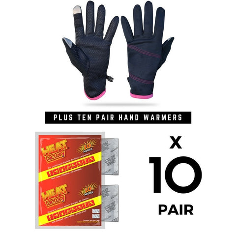 Ladies Glove + (10) Pair Hand Warmer Combo