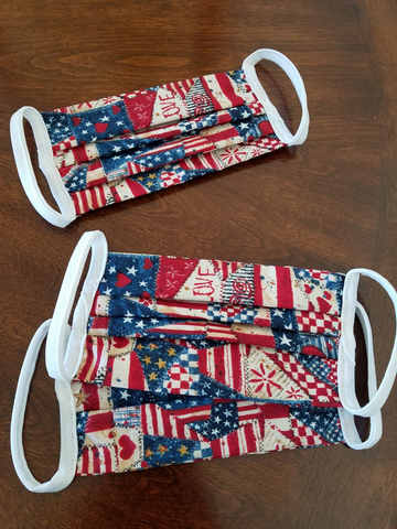 Patriotic Washable Face Masks (3 masks)