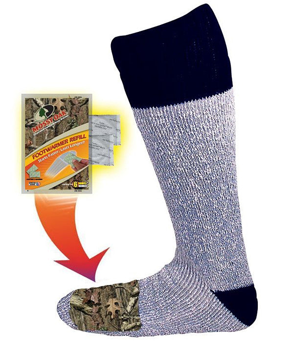 Heated Mossy Oak Acrylic Sock (Two Pairs)