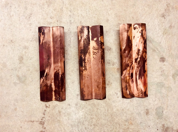 3 Piece Corrugated Copper / Wall Art