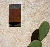 Triangular Copper and Steel / light sconce / Mike Dumas Copper Designs Inc.