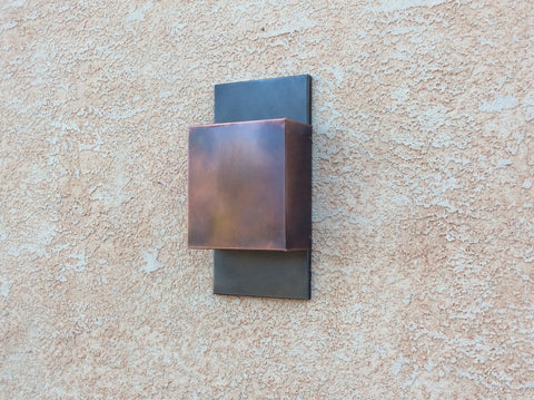 Light Sconce / Copper + Steel Contemporary