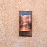 Copper + Steel light // Contemporary // metal lighting // sconce by Mike Dumas Copper Designs