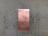 Light Sconce / Copper / 6 X 12 Rectangle