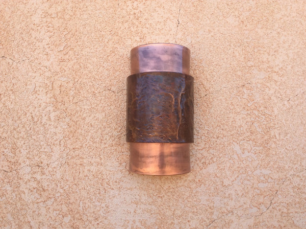Light Sconce / Copper-Leather Textured / Dark Sky Lighting