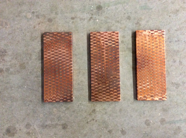 Copper Wall Art // 3 Piece Metal Art // Patina imagery on copper by Mike Dumas Copper Designs.