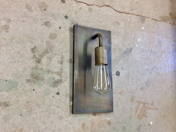 Light Sconce / Exposed Bulb Industrial / Steel Lighting