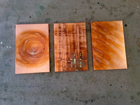 Copper / Flame Painted #0001 / Wall Art