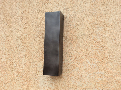 Linear Steel Sconce / Patinaed Steel Lighting