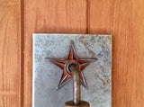 The Lone Star // steel light sconce // Mike Dumas Copper Designs