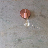 Minimalist Copper Round / Light Sconce
