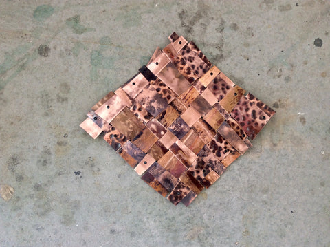 Recycled Copper / Mini Weave / Wall Art