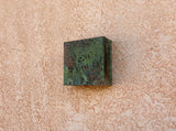 Copper Sconce / Patinaed / Verdigris / lighting by Mike Dumas Copper Designs Inc.