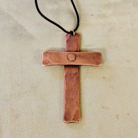 Rustic Copper Cross