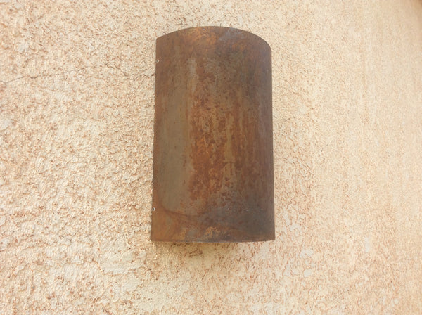 Rusted Raw Steel / Half Round / Light Sconce