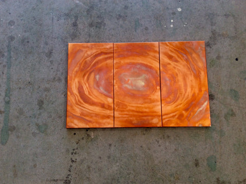 Copper / Sol / Flame Painted Wall Art