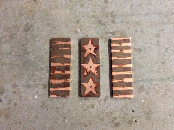 Stars & Stripes-Patinaed Copper / Wall Art