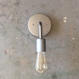 Steel Minimalist Round / Light Sconce