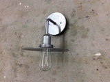 Vintage style // steel lighting // wall sconce by Mike Dumas Copper Designs